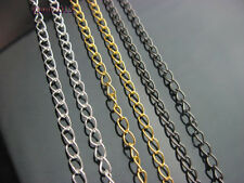 """Pick Color.30/50/100pcs Silver/Gold/Hematite plated Curb Chain Finding,SZ 18.5"""""""