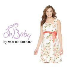 Oh Baby By Motherhood Maternity Dress Sleeveless Floral Print M L XL NWT