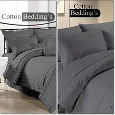 OFFER 800-1000 TC 100% Egyptian Cotton US New Gray Color Scala Fitted/Duvet/Flat