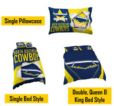North Queensland Cowboys NRL Pillow Quilt Cover Set Single Double Queen King Bed
