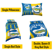 Parramatta Eels NRL Pillow Quilt Cover Set: Single, Double, Queen & King Bed