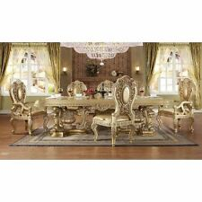 Gold Finish Dining Room Set Homey Design HD-8016