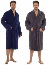 Mens Sleepy Joes Luxury 100% Cotton Towelling Bath Robe Dressing Gown Wrap