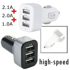 3 USB Port In Car Charger 5.1A - High Speed for iPhone 6s 7 Plus Samsung AU