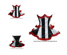 Heavy 22 Double Steel Boned Waist Training Satin Underbust Shaper Corset #8408