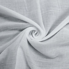 Solid 52'' Pleated Poly Cotton Voile Fabric by the Yard or Sample Swatch