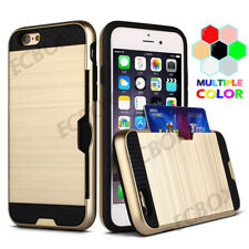 Shockproof Card Holder Armor Heavy Duty Brushed Protector Case For Various Phone
