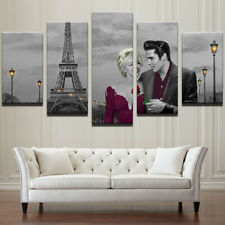 Framed Home Decor Canvas Print Painting Wall Marilyn Monroe Elvis Presley Paris
