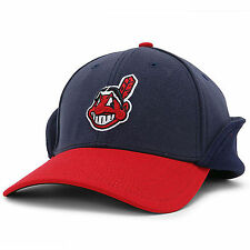 CLEVELAND INDIANS MLB ON FIELD DOWNFLAP NEW ERA 39THIRTY FLEX FIT HAT/CAP NWT