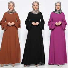 New Abaya Muslim Women Kaftan Islamic Vintage Long Dress Arab Maxi Dresses