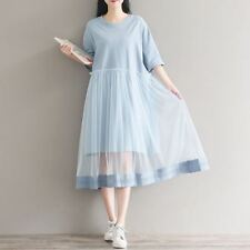 Fashion Patchwork Pattern Pleated Cotton Fabric Two Piece Dress For Women