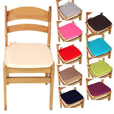 GOOD QUALITY FABRIC CHAIR CUSHION SEAT PADS TIE ON GARDEN DINING KITCHEN SQUARE