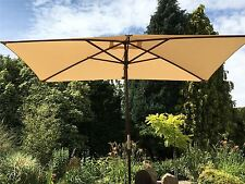 Large Hardwood 2m x 3m Wooden Pulley Garden Parasol Umbrella 10 Colours