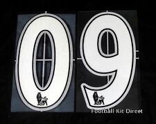 Youth/child Premier League White Football Shirt Number 0-9 Sporting ID