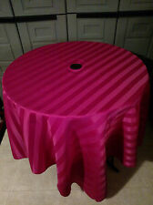 Umbrella hole polyester 72 inch round or square tablecloth in 26 colors