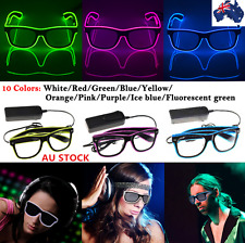 EL Wire Glasses LED Costumes Eyeglassed Light Up Disco Dance Party DJ Christmas