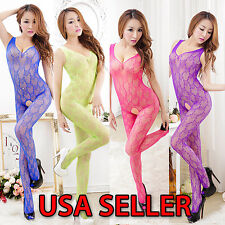 Exotic Fishnet Hot Lingerie Intimates Crotchless Sexy G-String Babydoll Bodysuit