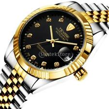 Tevise Gold Stainless Steel Automatic Mechanical Men Luxury Date Luminous Watch