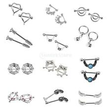 1 Pair 316L Steel Septum Hoop Captive Nipple Rings Body Piercing Jewelry 14g