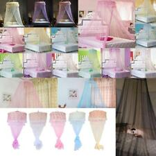 Double Single Queen Canopy Bed Curtain Dome Stopping Mosquito Net Midges Insect