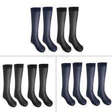 2 Pairs Mens  Striped Sheer Silk Socks Casual Business Summer Over the Calf Sock