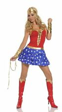 WW4 Wonder Woman 5 Pieces Adult Costume for Halloween and Cosplay Party