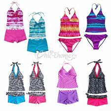 Kids Girls Swimsuit Swimwear Bathing Suit Tankini Bikini Swimming Costume Beach