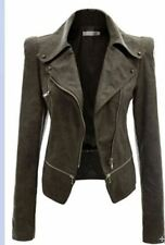 Fashion Turn-down Collar Pu Leather Material Winter Jacket for Women
