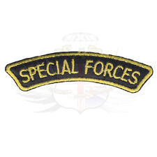 US SPECIAL FORCES MARSOC & AFGHAN NATIONAL ARMY ANA BLACK & GOLD SHOULDER TITLE