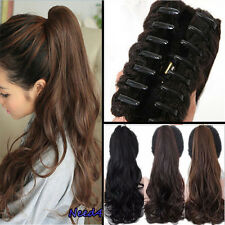US Fast Clip in Jaw Claw Ponytail Hair Extensions Extension Brown Blonde A332