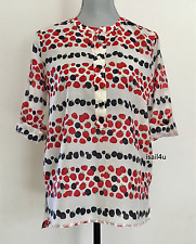 J.Crew Cotton-Silk Voile Popover Shirt In Berry Print NWT Size: 4 6 8 14