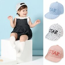 Soft Cotton Toddler Baby Child Infant Boy Girl Peaked Baseball Hat Cute Star Sun