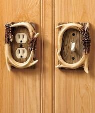 Antler Outlet Single Toggle Switchplate Cover Cabin Lodge Wall Accent Decor