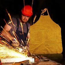 Long Cotton Carpenters Leather Cowhide Welders Welding Apron Protective Clothing