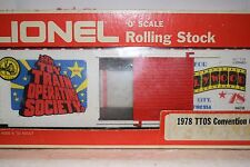 O Scale Trains Lionel Toy Train Society High Cube Box Car 9678