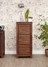 Baumhaus MAYAN Walnut Home Office Three Drawer Filing Cabinet (CWC07B) SRP £599