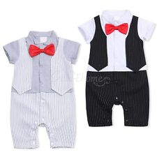 Toddler Baby Boys Wedding Formal Tuxedo Suit Jumpsuit Gentleman Romper Outfit