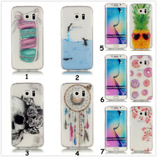 Ultra Thin For iPhone/Samsung Silicone TPU Clear HQ Pattern Gel Back Case Cover