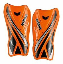 Erima Football Soccer Resista Tube Shin Guards Shin Pads Orange Black