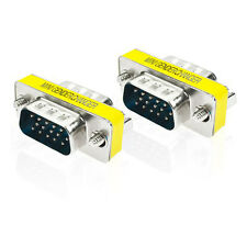 15 Pin VGA SVGA HD15 Gender Changer Coupler Adapter Converter Male to Male NEW