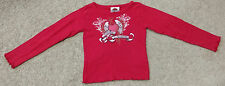 Harley-Davidson Motorcycles Girls LS Graphic Shirt-Heart/Wings-Red/Pink/White-4T