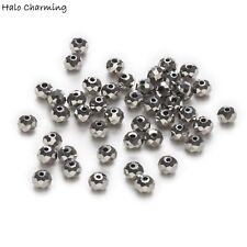 50 Piece Plating Silver Crystal Glass Faceted Beads Jewelry Findings DIY 4-8mm