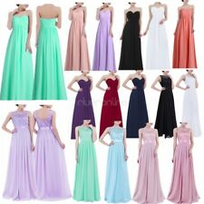 Ladies Formal Chiffon Long Evening Ball Gown Party Prom Wedding Bridesmaid Dress