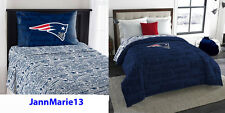 NEW! NFL New England Patriots Blue Twin or Full Size Comforter & Sheet SET!