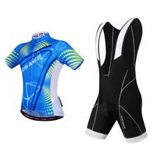 Men Breathable Sports Clothing Cycling Short Sleeve Jersey Padded Bib Shorts Set