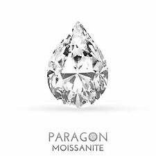 Paragon Moissanite Loose Pear Cut Best Diamond + C&C, Alternative - Buy Now !