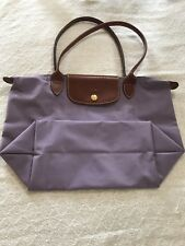 longchamp le pliage medium light purple/violet Tote Bag