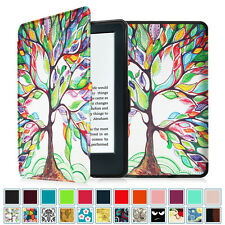 """2016 All-New Kindle 6"""" Amazon Kindle 8th Generation Smart Leather Case Cover"""