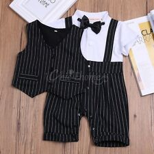 Newborn Baby Boys Formal Suit Romper Wedding Outfit Clothes Set Gentleman Tuxedo