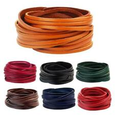 PU Leather Wrap Wristband Cuff Punk Bracelet Men Women Bangle Adjustable